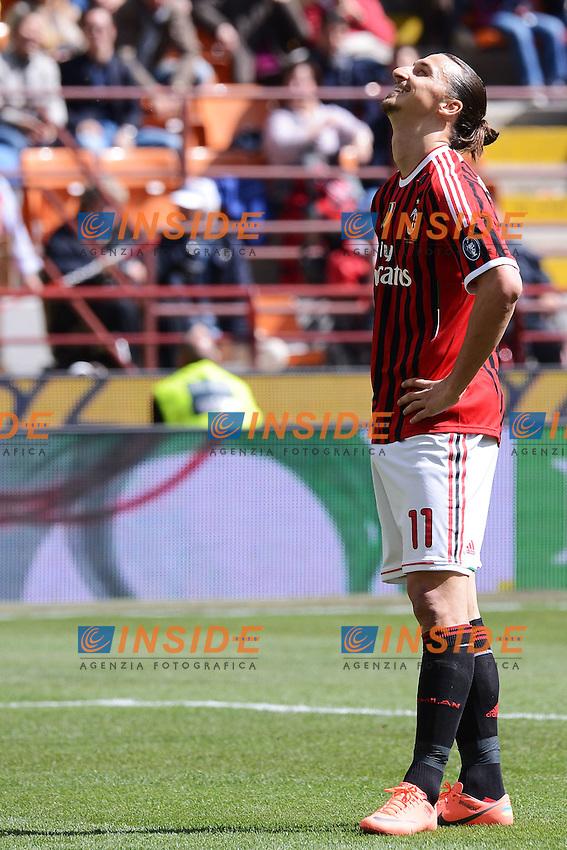 "Zlatan Ibrahimovic Milan.Milano 22/4/2012 Stadio ""Giuseppe Meazza - San Siro"".Football Calcio 2011/2012 Serie A.Milan Vs Bologna.Foto Insidefoto Andrea Staccioli"