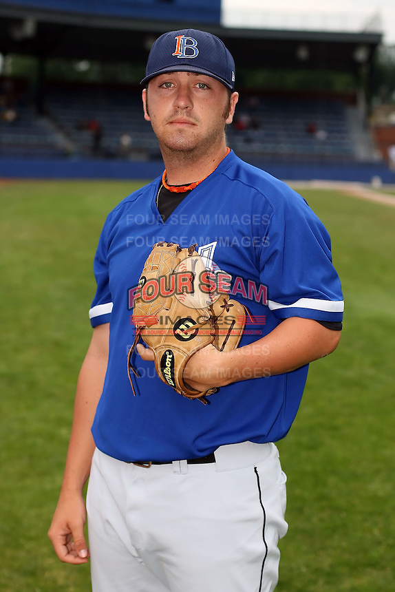 July 14th, 2007:  Scott Mueller of the Aberdeen Ironbirds, Class-A Short-Season affiliate of the Baltimore Orioles, poses for a photo before a game vs the Jamestown Jammers in New York-Penn League action.  Photo by: Mike Janes/Four Seam Images