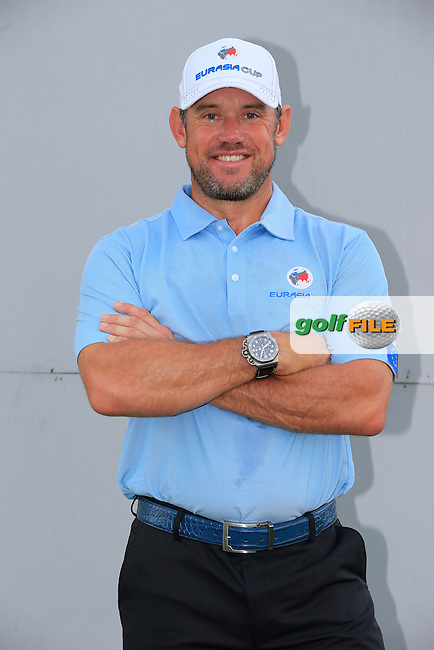 Lee Westwood (ENG) European Team before Pro-Am Day of the 2016 Eurasia Cup held at the Glenmarie Golf &amp; Country Club, Kuala Lumpur, Malaysia. 14th January 2016.<br /> Picture: Eoin Clarke | Golffile<br /> <br /> <br /> <br /> All photos usage must carry mandatory copyright credit (&copy; Golffile | Eoin Clarke)
