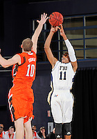 Florida International University guard Phil Taylor (11) plays against Bowling Green State University, which won the game 61-53 on December 22, 2011 at Miami, Florida. .