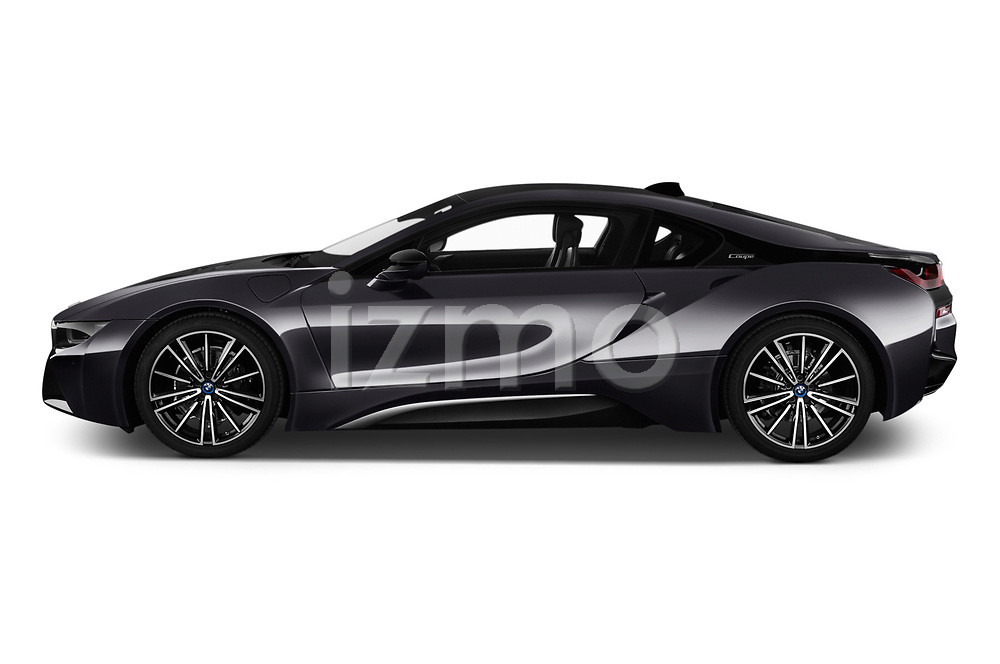Car driver side profile view of a 2019 BMW i8 Base 2 Door Coupe
