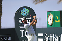Alexander Levy (FRA) on the 10th tee during the final round of  the Saudi International powered by Softbank Investment Advisers, Royal Greens G&CC, King Abdullah Economic City,  Saudi Arabia. 02/02/2020<br /> Picture: Golffile | Fran Caffrey<br /> <br /> <br /> All photo usage must carry mandatory copyright credit (© Golffile | Fran Caffrey)