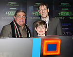 Dan Lauria, Johnny Rabe, John Bolton  and the cast of 'A Christmas Story, The Musical'  ringing  the NASDAQ Stock Market Opening Bell at NASDAQ, Times Square in New York City on December 20, 2012