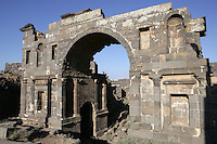Monumental eastern entrance to the city, 1st century AD, Bosra, Syria Picture by Manuel Cohen