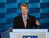 United States Representative Joe Kennedy III (Democrat of Massachusetts) makes remarks during the first session of the 2016 Democratic National Convention at the Wells Fargo Center in Philadelphia, Pennsylvania on Monday, July 25, 2016.<br /> Credit: Ron Sachs / CNP<br /> (RESTRICTION: NO New York or New Jersey Newspapers or newspapers within a 75 mile radius of New York City)