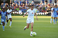 Kansas City, MO - Saturday May 28, 2016: FC Kansas City midfielder Mandy Laddish (7). FC Kansas City defeated Orlando Pride 2-0 during a regular season National Women's Soccer League (NWSL) match at Swope Soccer Village.