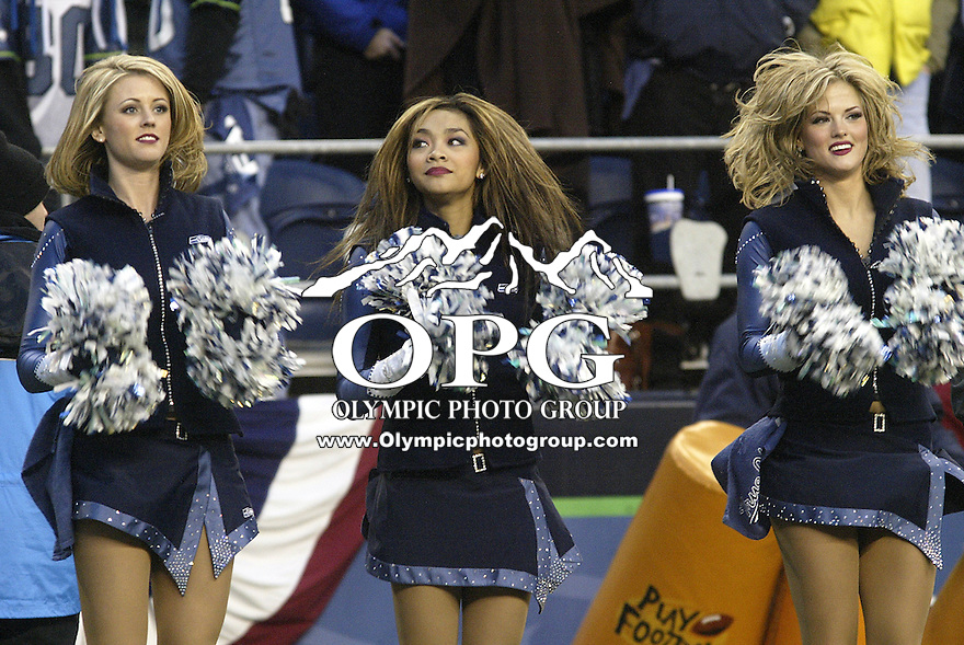 Seattle Seahawks Cheerleaders Entertained The Crowd During A