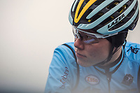 Witse Meeusen (BEL) pre race.<br /> <br /> Men's junior race<br /> <br /> UCI 2019 Cyclocross World Championships<br /> Bogense / Denmark<br /> <br /> &copy;kramon