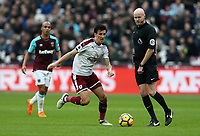 Burnley's Jack Cork<br /> <br /> Photographer Rob Newell/CameraSport<br /> <br /> The Premier League - West Ham United v Burnley - Saturday 10th March 2018 - London Stadium - London<br /> <br /> World Copyright &not;&copy; 2018 CameraSport. All rights reserved. 43 Linden Ave. Countesthorpe. Leicester. England. LE8 5PG - Tel: +44 (0) 116 277 4147 - admin@camerasport.com - www.camerasport.com