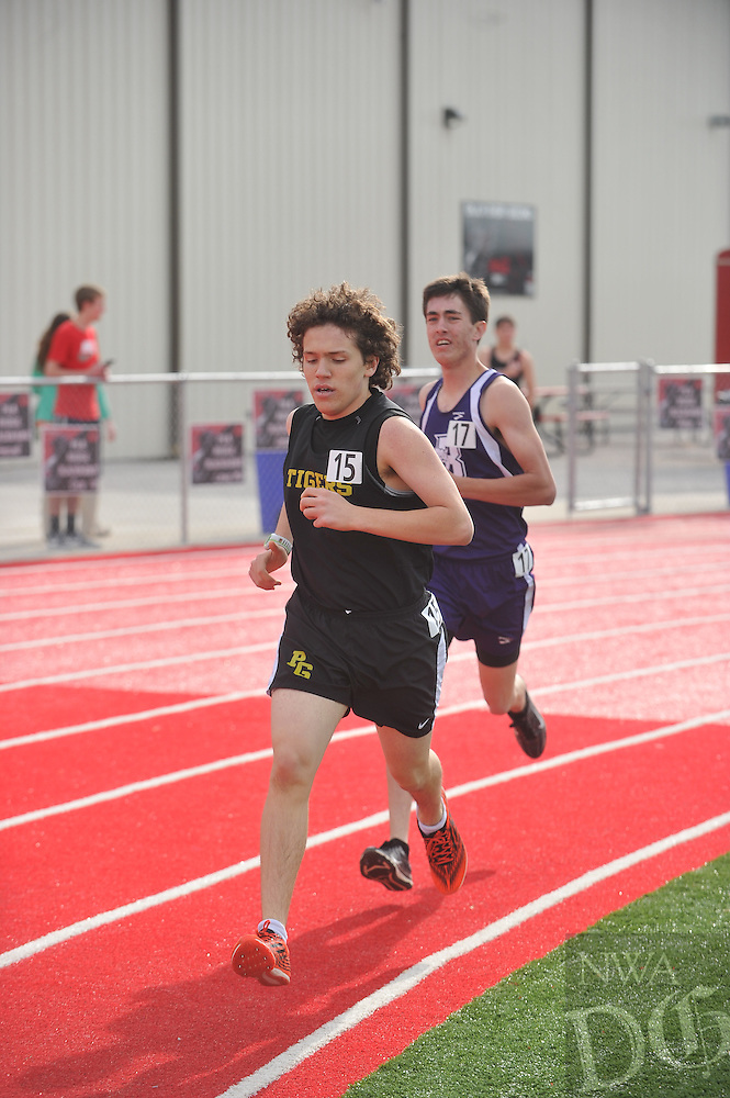 NWA Democrat-Gazette/Michael Woods --04/28/2015--w@NWAMICHAELW...Atheletes compete during Tuesday's 4A-1 Conference track meet at Pea Ridge High School.