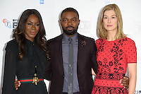 "director, Amma Asante, David Oyelowo and Rosamund Pike<br /> at the London Film Festival photocall for the opening film, ""A United Kingdom"", Mayfair HotelLondon.<br /> <br /> <br /> ©Ash Knotek  D3159  05/10/2016"