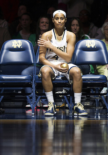 December 29, 2012:  Notre Dame guard Skylar Diggins (4) during NCAA Women's Basketball game action between the Notre Dame Fighting Irish and the Purdue Boilermakers at Purcell Pavilion at the Joyce Center in South Bend, Indiana.  Notre Dame defeated Purdue 74-47.