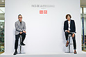 (L to R) Uniqlo Creative Director Naoki Takizawa and fashion designer Ines de la Fressange, attend a media event for Uniqlo x Ines de La Fressange AW17 collection, on September 5, 2017, Tokyo, Japan. Japanese casual clothing chain Uniqlo and French fashion icon Ines de la Fressange are collaborating with a Fall/Winter 2017 collection which is being sold in selected Uniqlo stores from September 1st. (Photo by Rodrigo Reyes Marin/AFLO)