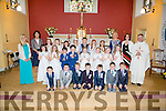 Pupils from,Scoil Nachabháil,Clogher and Flemby National Schools who made their First Holy Communion on Saturday in St Brendan's Church Clogher,Ballymacelligott,on Saturday.