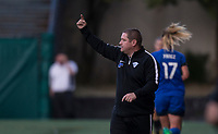 Seattle, WA - Saturday July 15, 2017: Matt Beard, Head Coach during a regular season National Women's Soccer League (NWSL) match between the Seattle Reign FC and the Boston Breakers at Memorial Stadium.