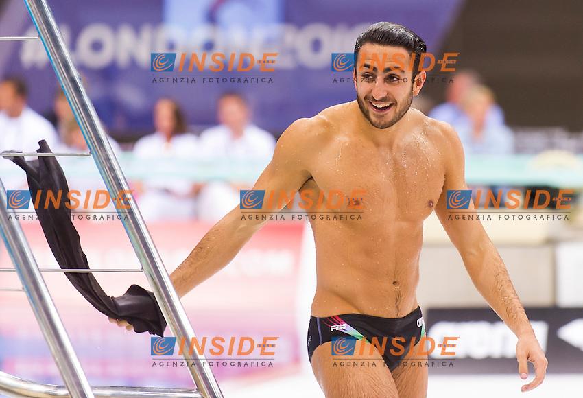 TOCCI Giovanni ITA silver medal<br /> London, Queen Elizabeth II Olympic Park Pool <br /> LEN 2016 European Aquatics Elite Championships <br /> Diving<br /> Men's 1m springboard final <br /> Day 02 10-05-2016<br /> Photo Giorgio Perottino/Deepbluemedia/Insidefoto