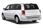 Car pictures of rear three quarter view of 2018 Dodge Grand-Caravan SE 5 Door Minivan Angular Rear