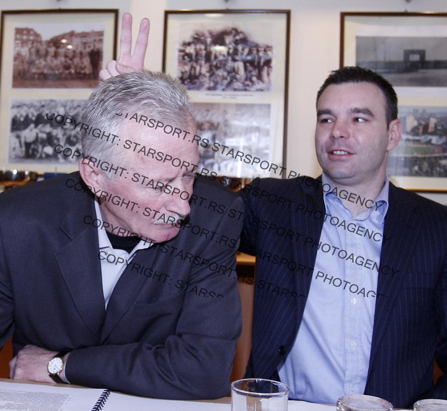 Fudbal, fudbalski savez Srbije.Izvrsni odbor FSS-a.Miodrag Zuca Jankovic i Dragan Aca Bulic.Beograd, 03.13.2008..foto: Srdjan Stevanovic