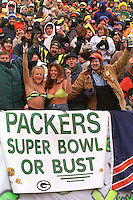 Green Bay Packers fans during the December 1, 1996 game against the Chicago Bears. The Pack won the game, 28-17.