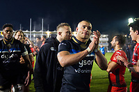 Jonathan Joseph of Bath Rugby acknowledges the crowd after the match. European Rugby Champions Cup match, between Bath Rugby and RC Toulon on December 16, 2017 at the Recreation Ground in Bath, England. Photo by: Patrick Khachfe / Onside Images