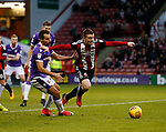 John Fleck of Sheffield Utd and Filipe Morais of Bolton Wanderers during the Championship match at Bramall Lane Stadium, Sheffield. Picture date 30th December 2017. Picture credit should read: Simon Bellis/Sportimage