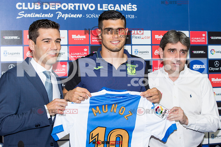 CD Legane's new player Ezequiel Munoz during their official presentation at Leganes,Spain on August 09 of 2017.(ALTERPHOTOS/Rodrigo Jimenez) /NortePhoto.com