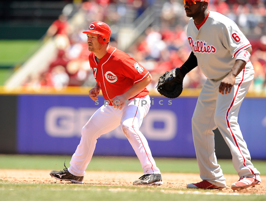 SCOTT ROLEN,  of the Cincinnati Reds ,  in action during the Reds  game against the Philadelphia Phillies  in Cincinnati, Ohio on June 30, 2010. The Cincinnati Reds beat the Philadelphia Phillies 4-3..