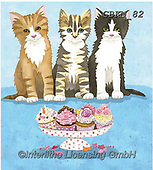 Kate, CUTE ANIMALS, LUSTIGE TIERE, ANIMALITOS DIVERTIDOS, paintings+++++Cats & dogs page 36,GBKM82,#ac#, EVERYDAY ,cat,cats
