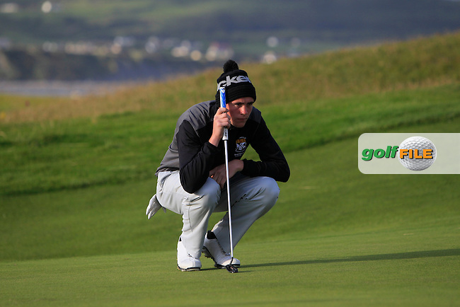 Robert Brazill (Naas) on the 1st during Round 2 of the South of Ireland Amateur Open Championship at LaHinch Golf Club on Thursday 23rd July 2015.<br /> Picture:  Golffile | Thos Caffrey