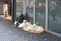 Homeless in Winter, Germany