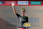 Simon Yates (GBR) Mitchelton-Scott finishes in 13th place and extends his overall lead at the end of Stage 16 of the La Vuelta 2018, an individual time trial running 32km from Santillana del Mar to Torrelavega, Spain. 11th September 2018.                   <br /> Picture: Unipublic/Photogomezsport | Cyclefile<br /> <br /> <br /> All photos usage must carry mandatory copyright credit (&copy; Cyclefile | Unipublic/Photogomezsport)