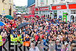 The large crowd watching the coronation at the Puck Fair  on Sunday