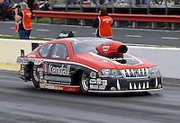 May 10, 2013; Commerce, GA, USA: NHRA pro stock driver V. Gaines during qualifying for the Southern Nationals at Atlanta Dragway. Mandatory Credit: Mark J. Rebilas-
