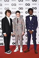 Gaten Matarazzo, Finn Wolfhard &amp; Caleb McLaughlin at the the GQ Men of the Year Awards 2017 at the Tate Modern, London, UK. <br /> 05 September  2017<br /> Picture: Steve Vas/Featureflash/SilverHub 0208 004 5359 sales@silverhubmedia.com