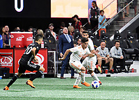 Atlanta, Georgia - Wednesday, May 9, 2018. Sporting Kansas City defeated 10-man Atlanta United, 2-0, in front of a crowd of 44,696 at Mercedes-Benz Stadium.
