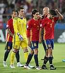 Spain's Hector Bellerin and Marco Assensio look on dejected during the UEFA Under 21 Final at the Stadion Cracovia in Krakow. Picture date 30th June 2017. Picture credit should read: David Klein/Sportimage