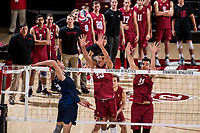 Stanford, CA - February 21, 2018: Stanford Men's Volleyball loses to BYU 1-3 at Maples Pavilion.