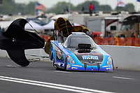 Apr 20, 2018; Baytown, TX, USA; NHRA funny car driver Jeff Diehl during qualifying for the Springnationals at Royal Purple Raceway. Mandatory Credit: Mark J. Rebilas-USA TODAY Sports