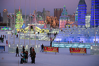 Winter in Harbin, China.