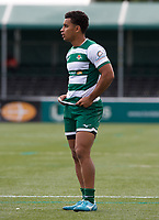 Reon Joseph of Ealing Trailfinders during the RFU Championship Cup match between Ealing Trailfinders and Ampthill RUFC at Castle Bar , West Ealing , England  on 28 September 2019. Photo by Alan  Stanford / PRiME Media Images