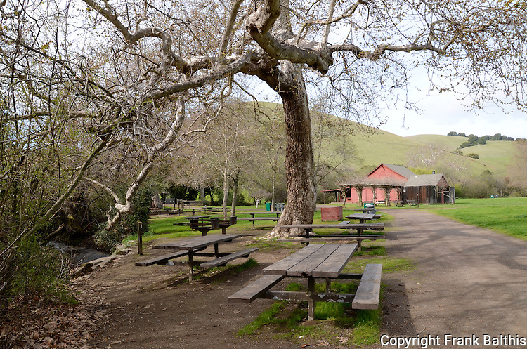 picnic area at Garin Regional Park