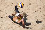 10.05.2015, Muenster, Schlossplatz<br /> smart beach tour, Supercup MŸnster / Muenster, Halbfinale<br /> <br /> Abwehr Marleen van Iersel <br /> <br />   Foto &copy; nordphoto / Kurth