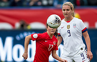 CARSON, CA - FEBRUARY 9: Jessie Fleming #17 of Canada and Lindsey Horan #9 of the United States ball watching during a game between Canada and USWNT at Dignity Health Sports Park on February 9, 2020 in Carson, California.