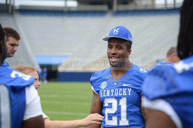 Sophomore tailback Josh Clemons at UK Football Media Day on Friday, August 3, 2012. Photo by Mike Weaver| Staff
