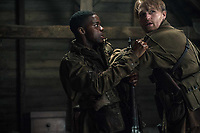 Overlord (2018)<br /> Jovan Adepo as Boyce, Wyatt Russell as Ford <br /> *Filmstill - Editorial Use Only*<br /> CAP/MFS<br /> Image supplied by Capital Pictures