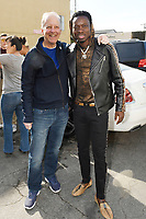 LOS ANGELES, CA - JANUARY 9: Sportscaster Jim Gray and Comedian Michael Blackson seen in the parking lot of the Wild Card Boxing Club in Los Angeles, California on January 9, 2019. <br /> CAP/MPI/DAM<br /> &copy;DAM/MPI/Capital Pictures