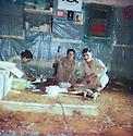 Iran 1983 <br /> District of Alan, in the middle Soheila Ghassemlou in the office of Fedayi Khalk<br /> Iran 1983<br /> Dans la region de Alan, au centre Soheila Ghassemlou dans un bureau du parti Fedayin du peuple
