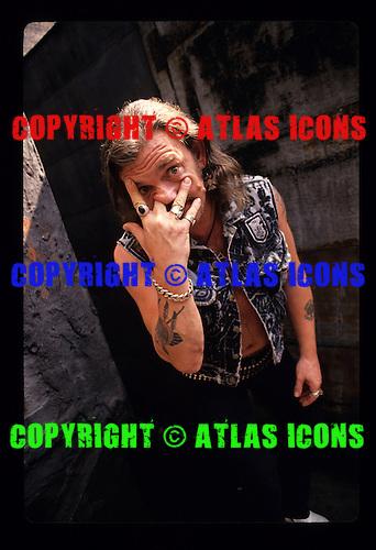 "MOTORHEAD: Ian ""Lemmy"" Kilmister: Studio Portrait Session: New York City: 1992:.Photo Credit: Eddie Malluk/Atlas Icons.com"