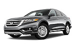 Stock pictures of low aggressive front three quarter view of a 2015 Honda Crosstour EX 4 Door Hatchback Low Aggressive