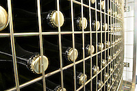 bottles stored in wire cages Bodega Agribergidum, DO Bierzo, Pieros-Cacabelos spain castile and leon